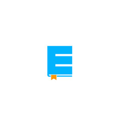 book letter e logo icon design vector image