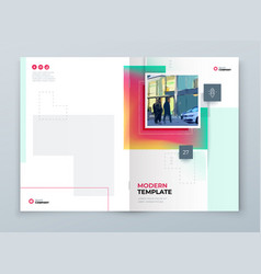 Brochure cover background design corporate vector