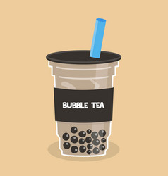 Bubble tea or pearl milk tea vector