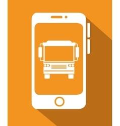 Bus travel service public vector