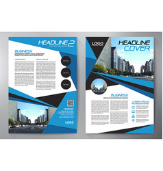 business brochure flyer design leaflets a4 vector image