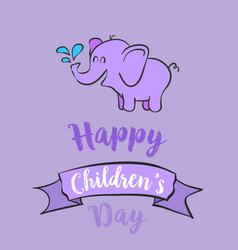 cartoon children day celebration style vector image
