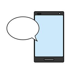 cellphone speech bubble vector image