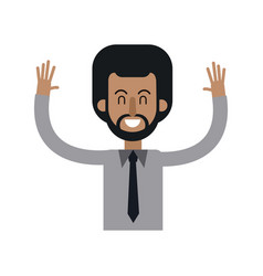 character african man male hands up image vector image