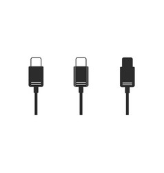 Charger connector icon vector