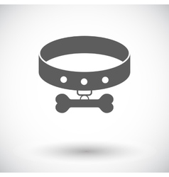 Collar flat icon vector