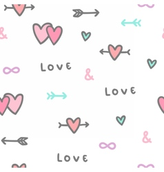 Cute romantic background seamless pattern vector