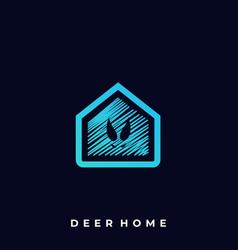 Deer home template vector