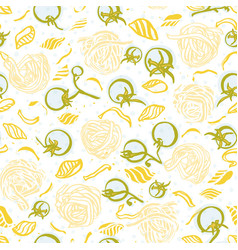 Delicious tempting hand drawn noodle pattern vector