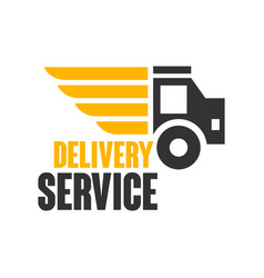 delivery service logo design template vector image