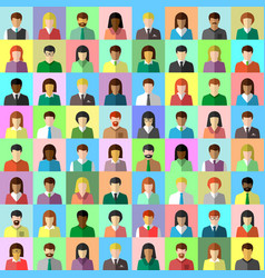 Diverse business people collage in flat design vector