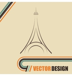 eiffel tower design vector image