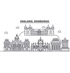 England edinburgh architecture line skyline vector