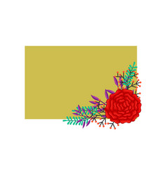Frame flowers colors blank layout template vector