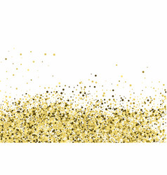 gold glitter texture isolated on white amber vector image