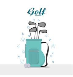 golf club sport concept vector image