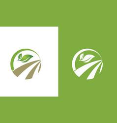 Green leaf organic logo vector