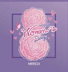 Happy 8 march international womens day design vector