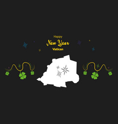 happy new year theme with map of vatican city vector image