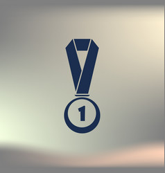 icon of trophy and award vector image