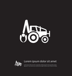 Isolated excavator icon digger element can vector