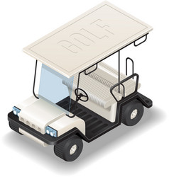 Isometric white Golf Car vector image