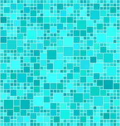 Light blue abstract square mosaic background vector