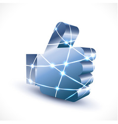 like icon with mesh for social media vector image