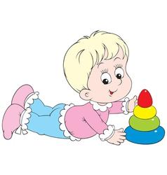 little child vector image