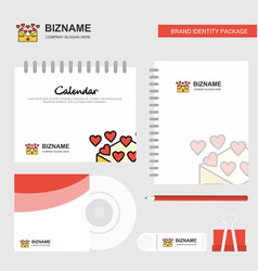 Love letter logo calendar template cd cover diary vector
