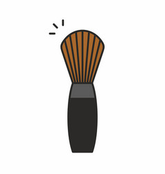 Makeup brush icon vector