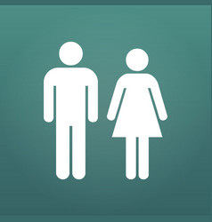 male and female icon isolated on modern background vector image
