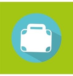 Man tourist traveler suitcase design graphic vector