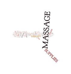 Massage supplies text background word cloud vector