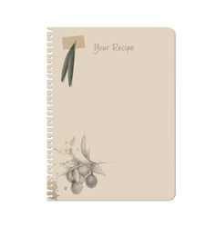 notebook and olives hand drawn sketch-02 vector image