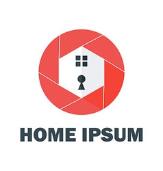Red Home Logo vector image