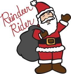 Reindeer Rider vector image
