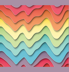 Seamless pattern of wavy colored paper vector