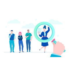 Search for candidate - flat design style vector