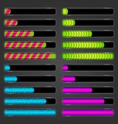 Set of bar downloader vector