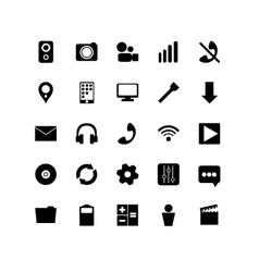Set of black icons It is used for web application vector image