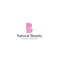 Simple and modern natural beauty for salon vector