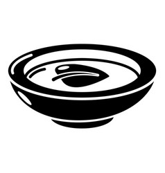 soy sauce plate icon simple black style vector image