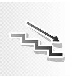 stair down with arrow new year blackish vector image