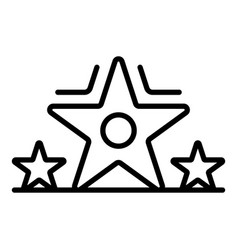 star video blog icon outline style vector image