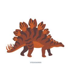 Stegosaurus dinosaur late jurassic period vector