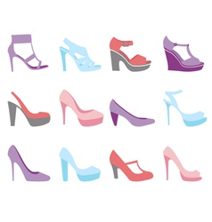 Summer shoes fashion vector