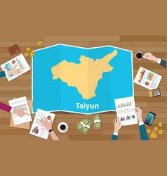Taiyun taiyuan china city region economy growth vector