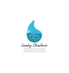 template logo for laundry laundry cleanliness in vector image