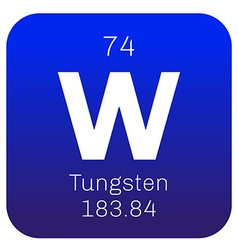 Tungsten chemical element vector